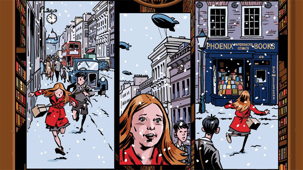 Christmas Doctor Who strip drawn by Rob Davis