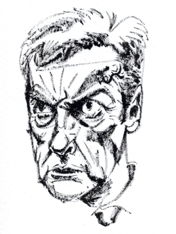 Malcolm Tucker, sketch after watching In The Loop. Please click this image to read the entry.