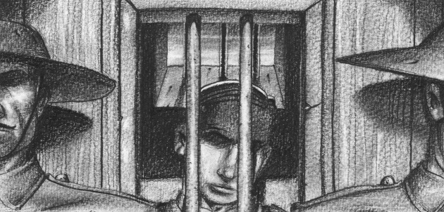 WWi soldier in cell