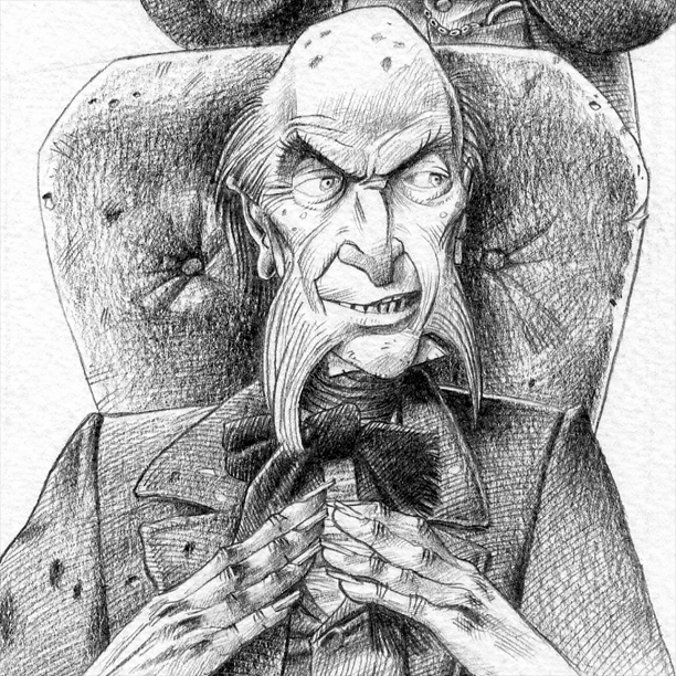 Arthur Gride for illustrated edition of Nicholas Nickleby