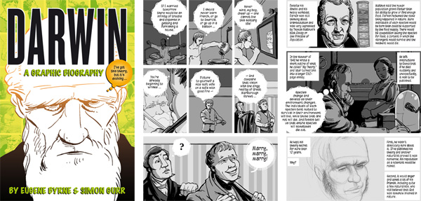 Cover and interior pages from Darwin: A Graphic Biography