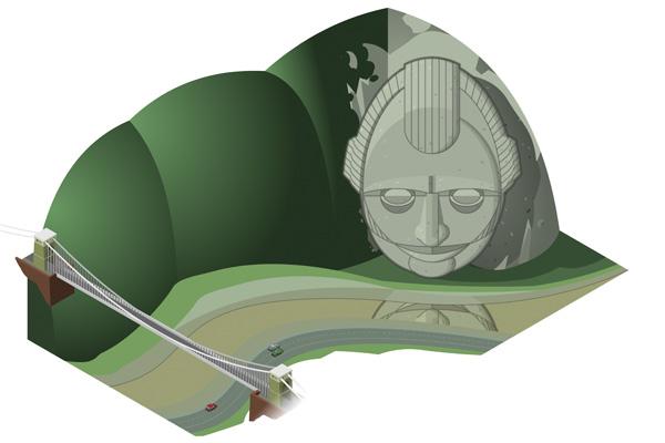 Unbuilt Bristol illustration by SImon Gurr