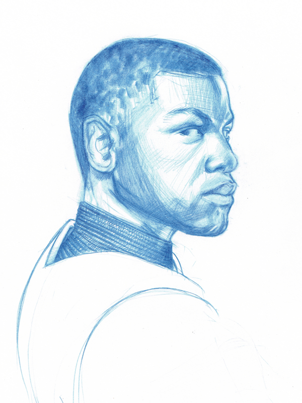 John Boyega in stormtrooper armour